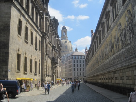 Streets of Dresden's old town