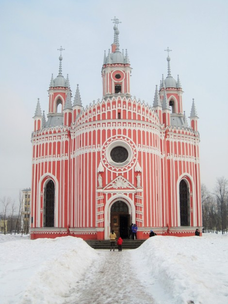 Chesme Church in the snow