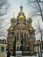 Church on Spilled Blood, park view