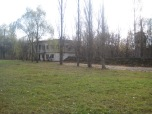 Abandoned athletics stadium in the still-populated town of Chernobyl