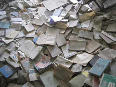 A floor of books