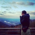 Enjoying a Glühwein over Heidelberg (Nov 13)