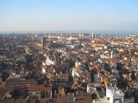 The rooftops of Venice from the Campanile