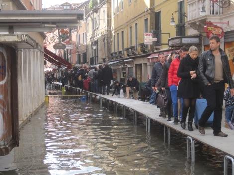 Venice during acqua alta