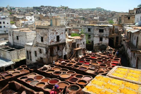 Leather pits of Fez (courtesy of CN Traveller)
