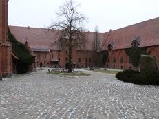 The main courtyard