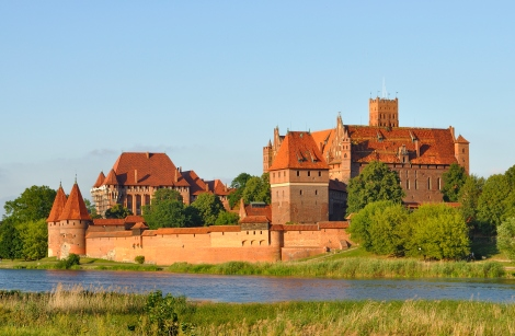 Panorama of Malbork Castle, courtesy of WikiCommons