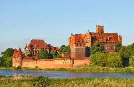 Panorama of Malbork Castle, courtesy of WikiCommons