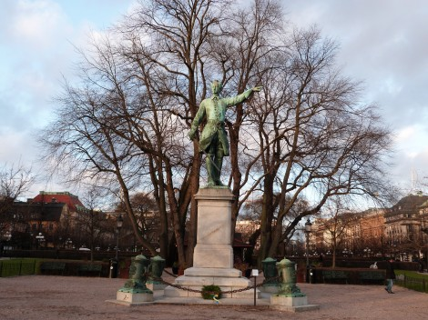 Statue of Charles XII in the Kungsträdgården or King's Garden