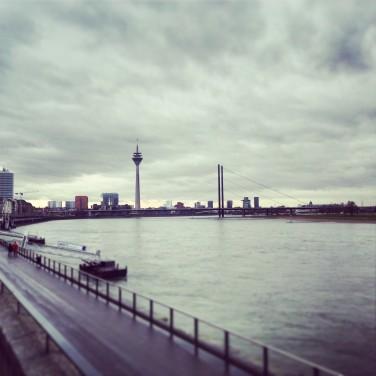 The rhine in Dusseldorf