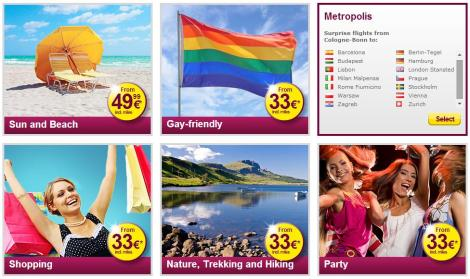 Themes and flights available from germanwings