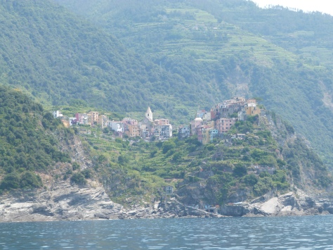 Blurry view of elusive Corniglia
