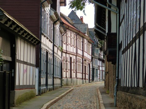 The half-timbered houses of Goslar