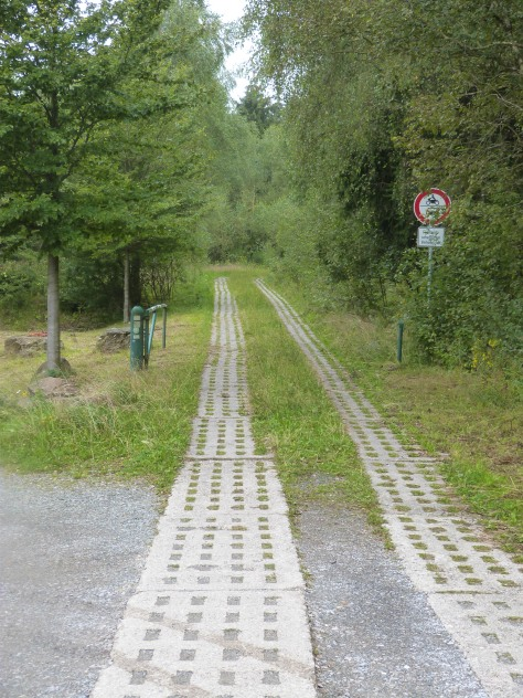 The former border between East and West Germany - now a green belt site