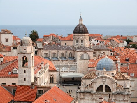 The domes of Dubrovnik's old town