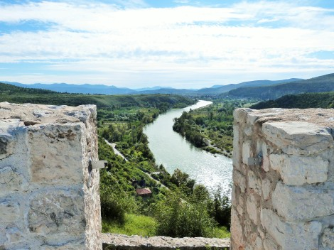 View of the Neretva River from the ramparts