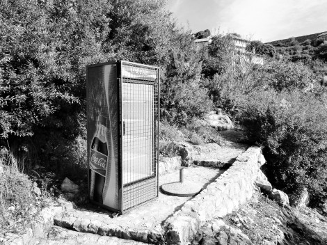 Abandoned Coca Cola fridge...