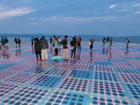 The light installation draws in tourists