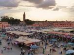 Jemaa el-Fna at sunset, Marrakech
