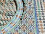 Mosaic art in El Badi Palace, Marrakech
