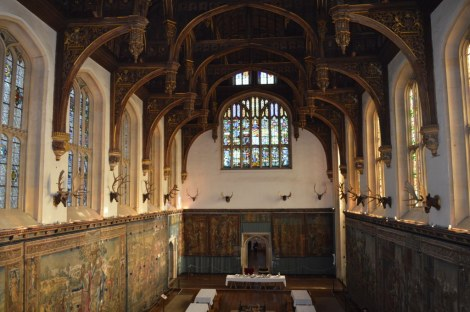 Hampton Court Great Hall head on